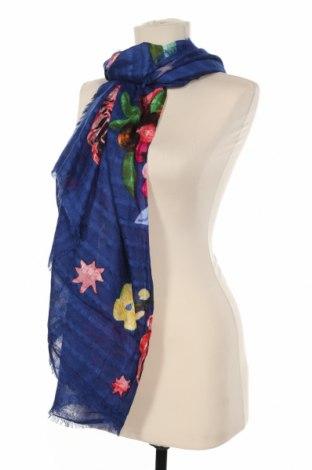 Κασκόλ Desigual, Χρώμα Μπλέ, Βισκόζη, Τιμή 22,81€