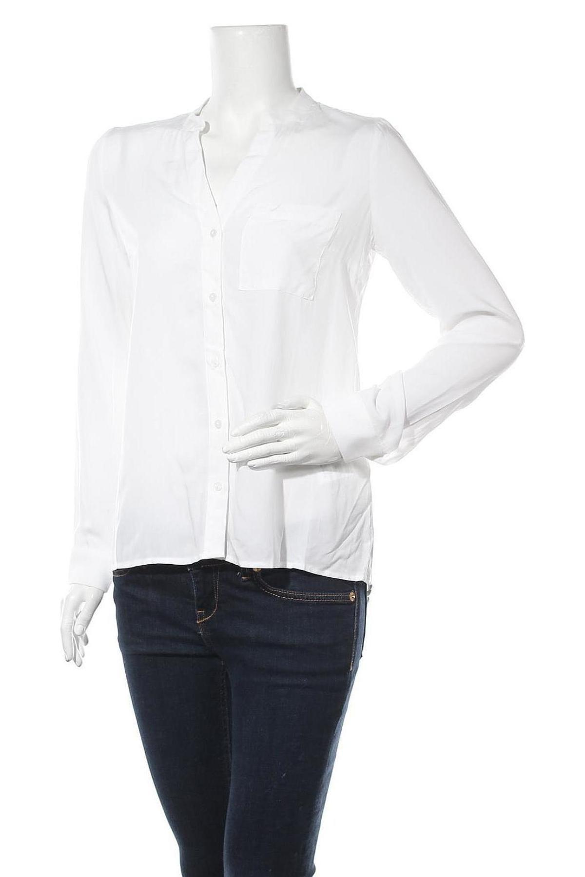 Дамска риза, Размер L, Цвят Бял, Вискоза, Цена 11,70лв.