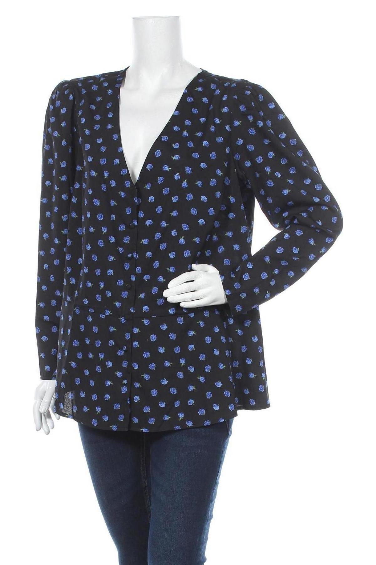 Дамска риза New Look, Размер XL, Цвят Черен, Полиестер, Цена 27,00лв.