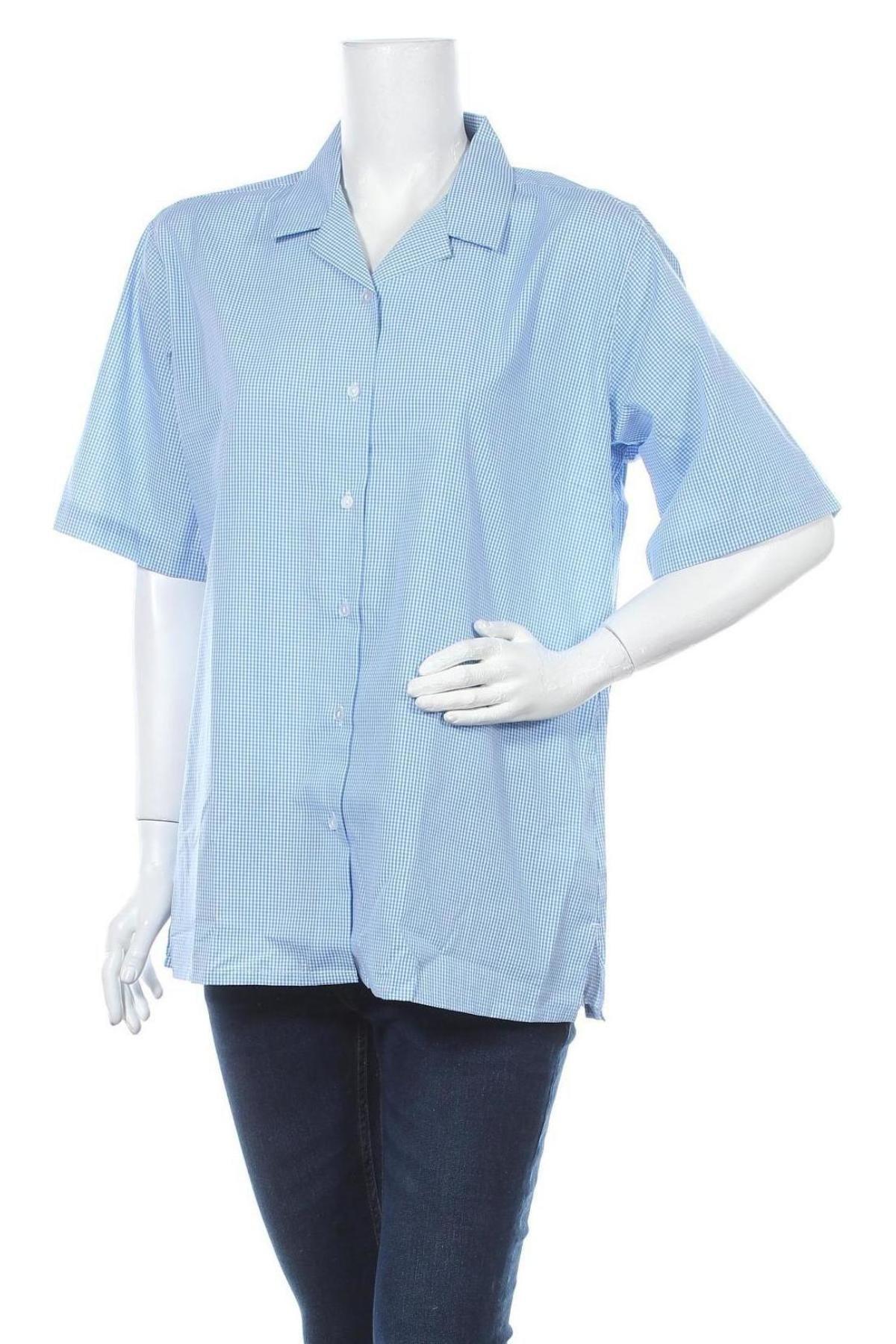 Дамска риза Trutex, Размер L, Цвят Син, 65% полиестер, 35% памук, Цена 9,50лв.