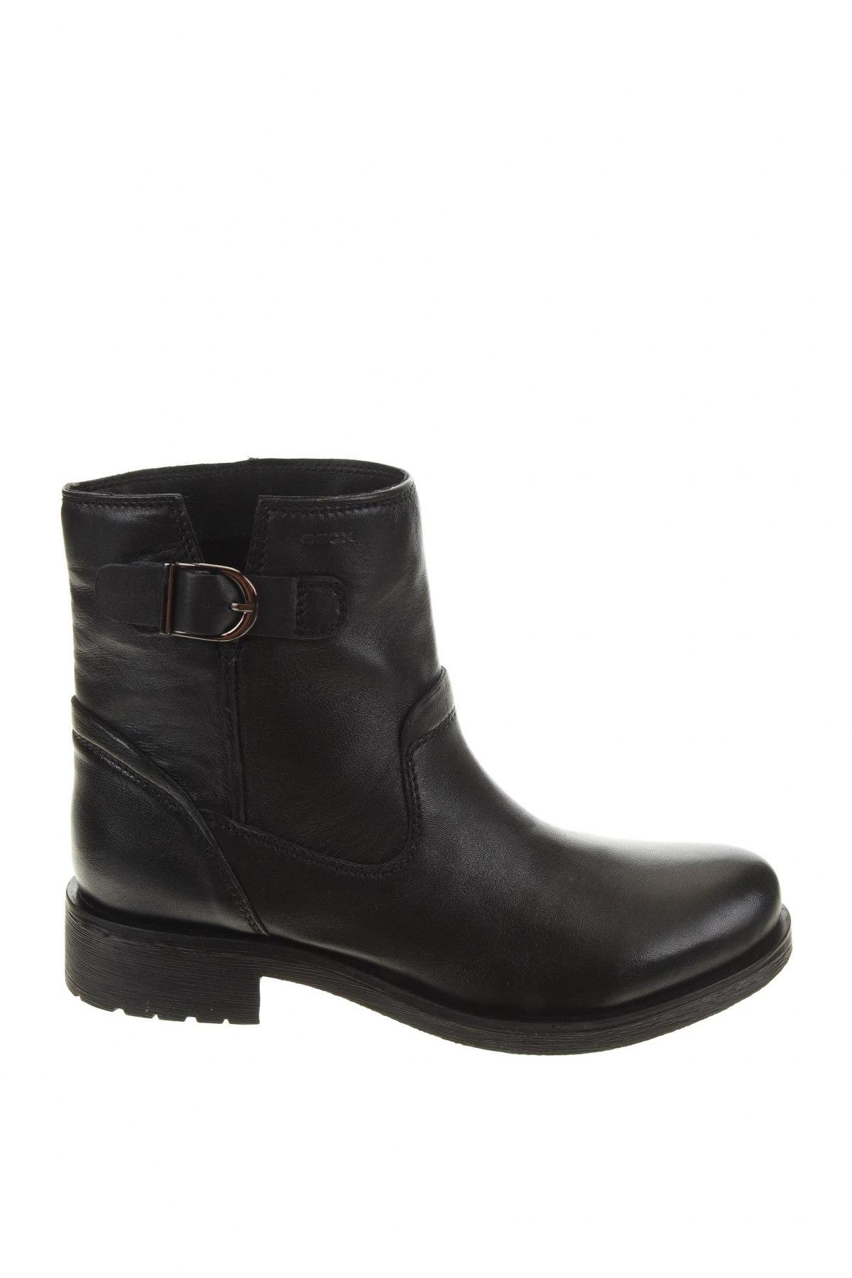 Дамски боти Geox, Размер 39, Цвят Черен, Естествена кожа, Цена 189,00лв.