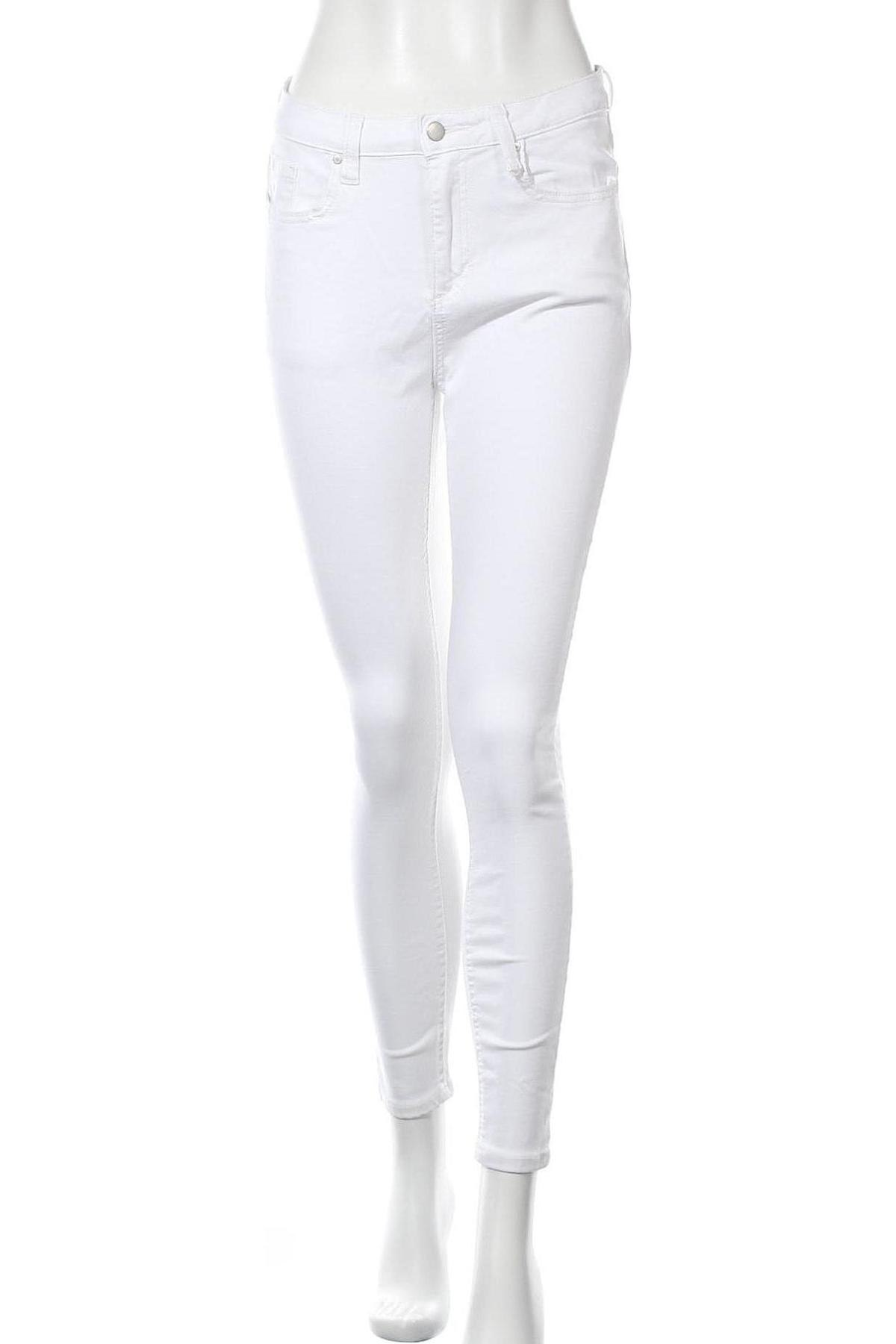 Дамски дънки, Размер M, Цвят Бял, Цена 18,66лв.