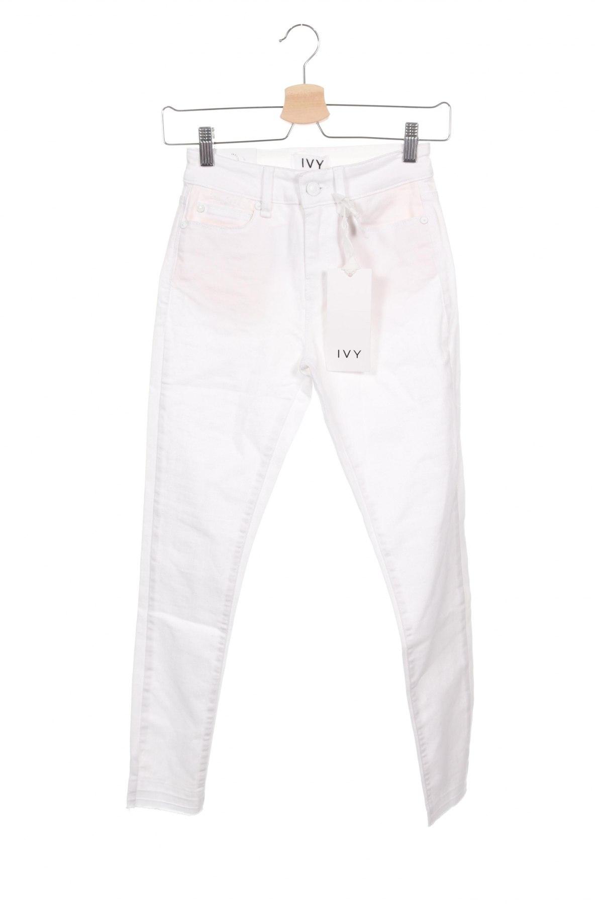 Дамски дънки Ivy Copenhagen, Размер XS, Цвят Бял, 78% памук, 15% лиосел, 5% полиестер, 2% еластан, Цена 24,58лв.