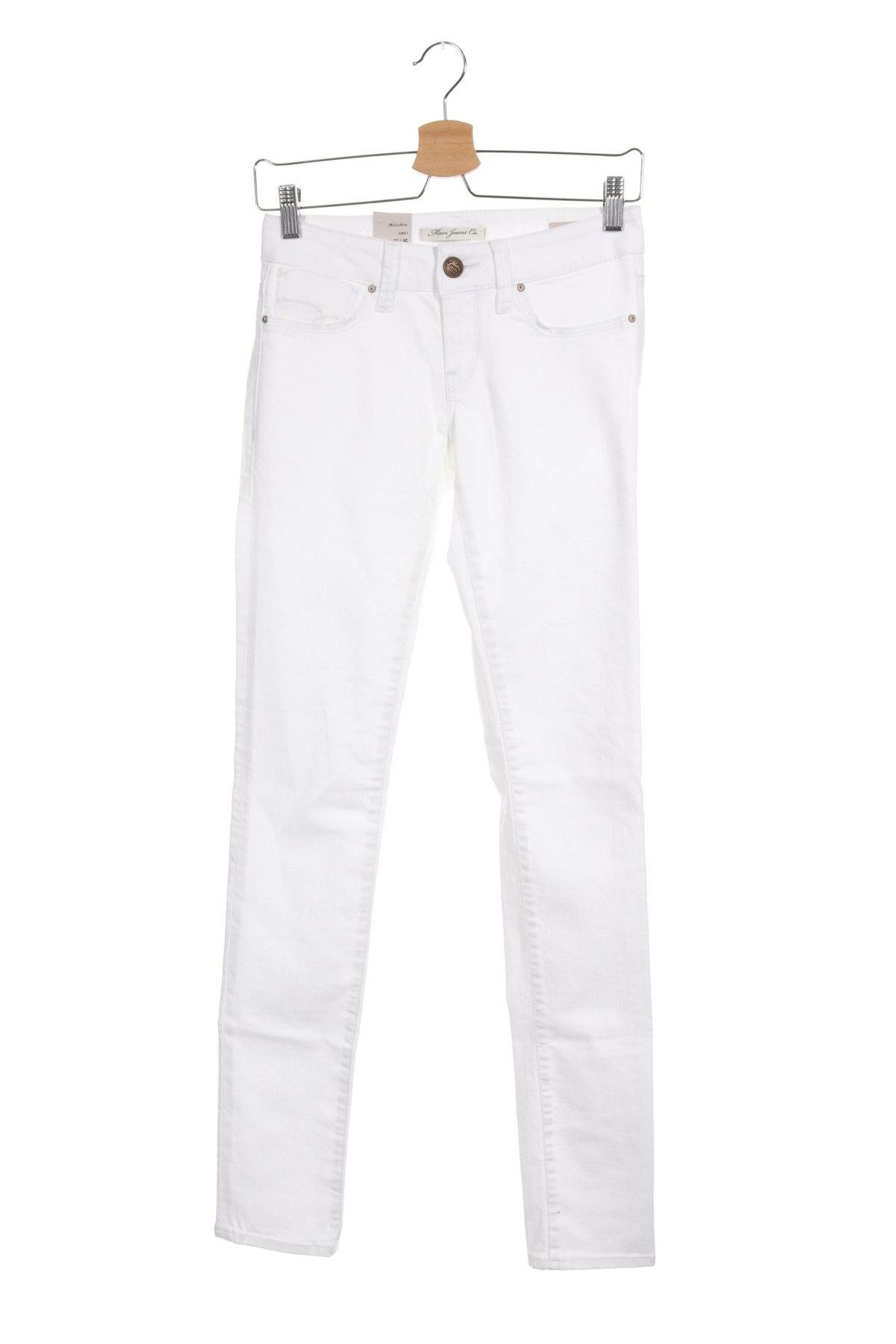 Дамски дънки Mavi, Размер XS, Цвят Бял, 98% памук, 2% еластан, Цена 14,63лв.