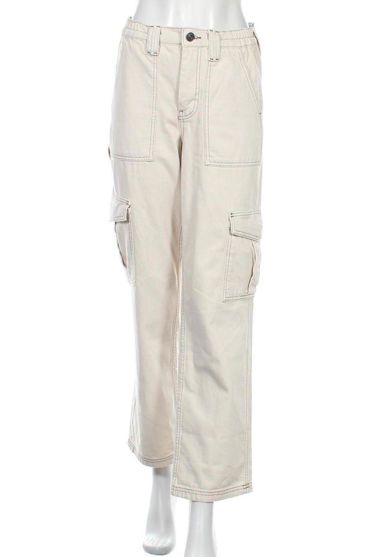 Дамски панталон BDG, Размер S, Цвят Бежов, Памук, Цена 34,81лв.