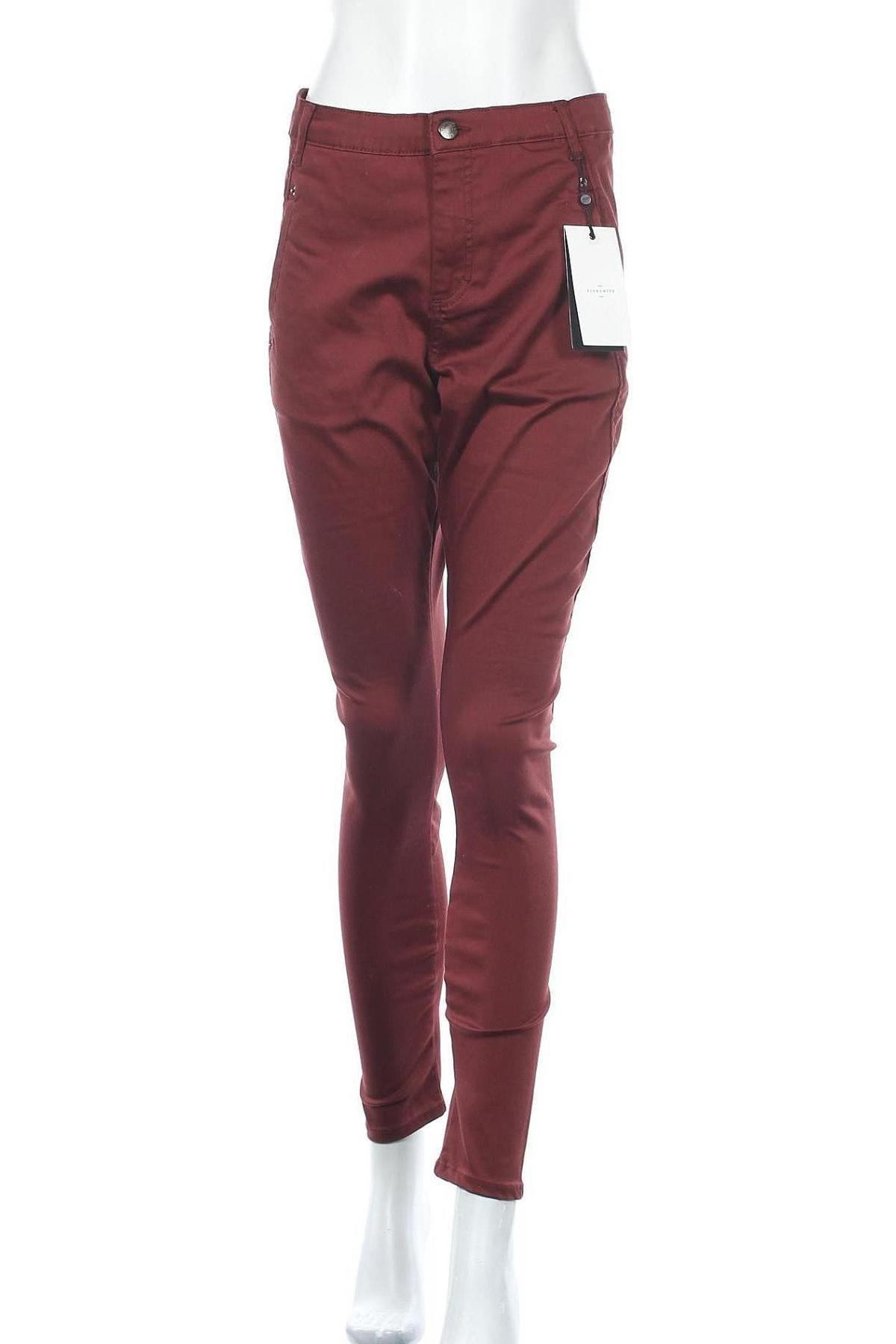 Дамски панталон Five Units, Размер M, Цвят Червен, 65% памук, 32% полиестер, 3% еластан, Цена 18,52лв.