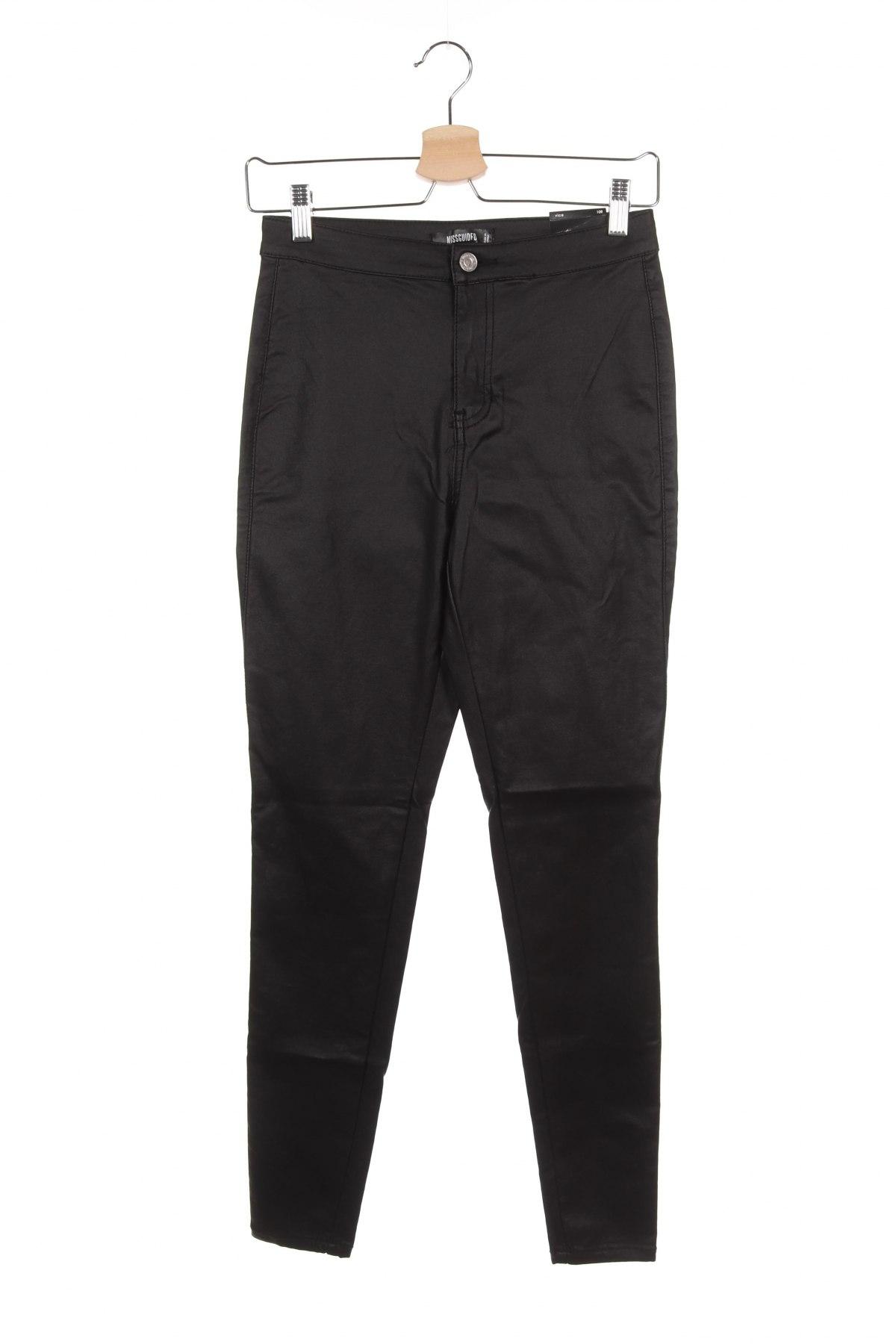 Дамски панталон Missguided, Размер M, Цвят Черен, 78% вискоза, 19% полиамид, 4% еластан, Цена 44,25лв.