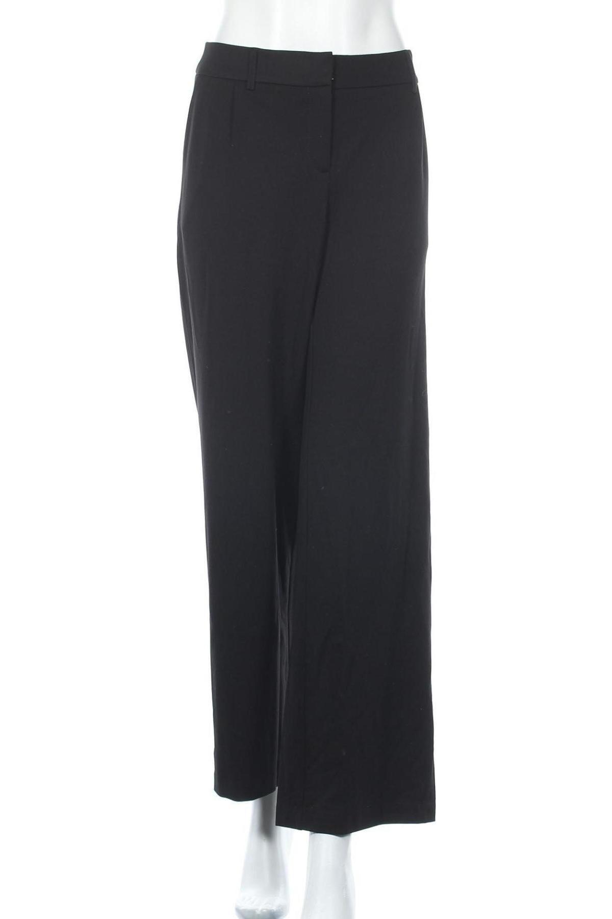 Дамски панталон S.Oliver, Размер L, Цвят Черен, 60% вискоза, 35% полиамид, 5% еластан, Цена 21,32лв.