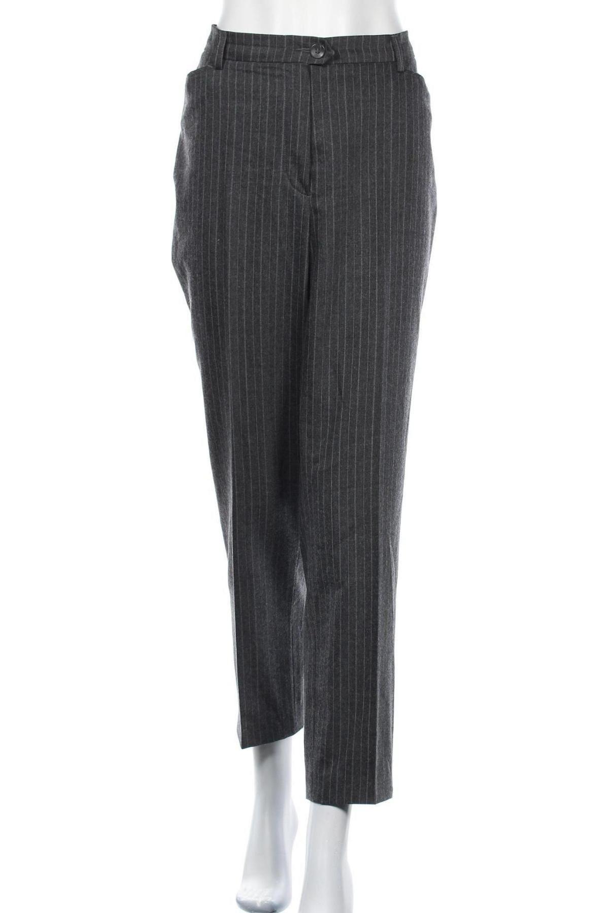 Дамски панталон Toni, Размер XL, Цвят Сив, 60% вълна, 38% полиестер, 2% еластан, Цена 15,98лв.