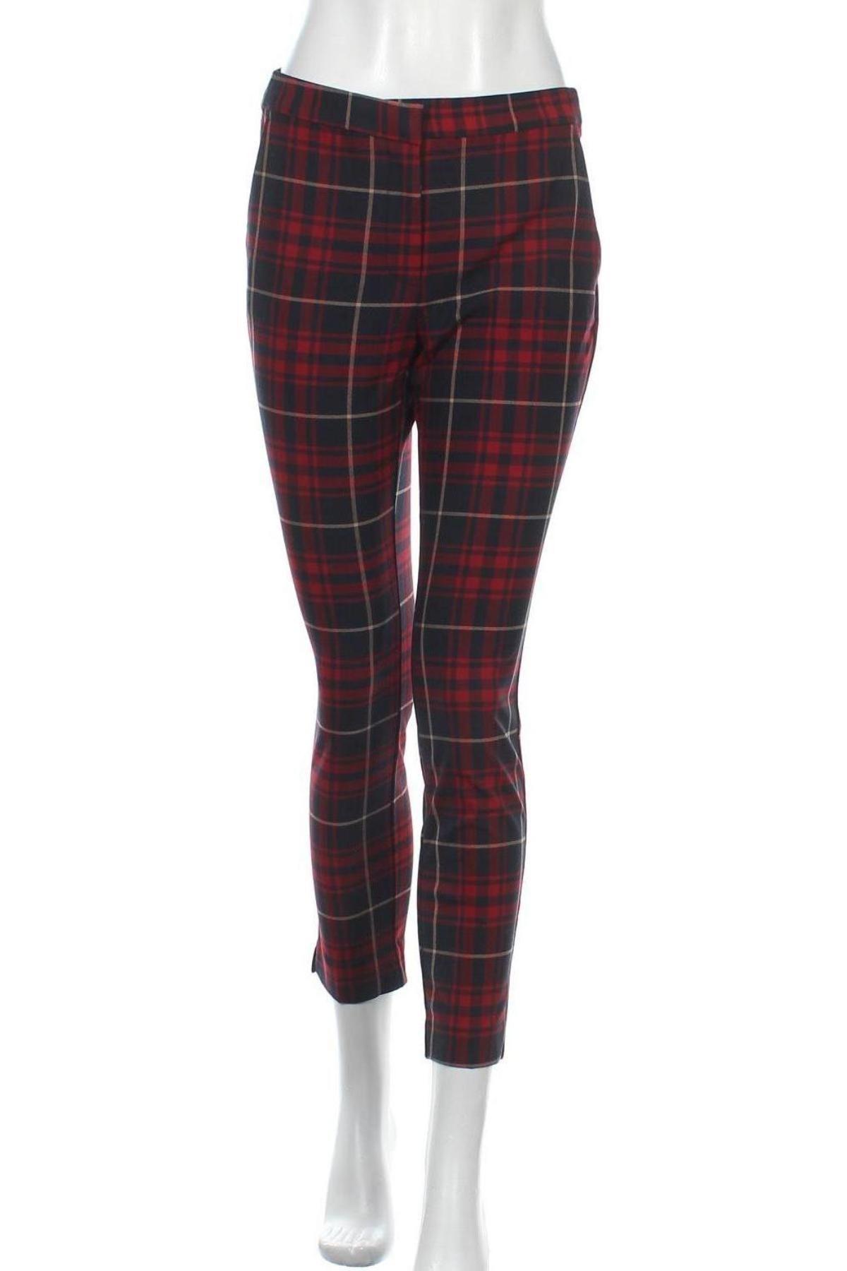 Γυναικείο παντελόνι Zara, Μέγεθος M, Χρώμα Πολύχρωμο, 66% πολυεστέρας, 30% βισκόζη, 4% ελαστάνη, Τιμή 23,97€