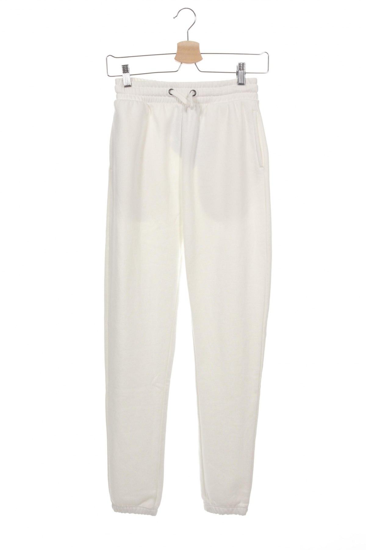 Дамско спортно долнище Even&Odd, Размер XS, Цвят Бял, 50% памук, 50% полиестер, Цена 19,80лв.