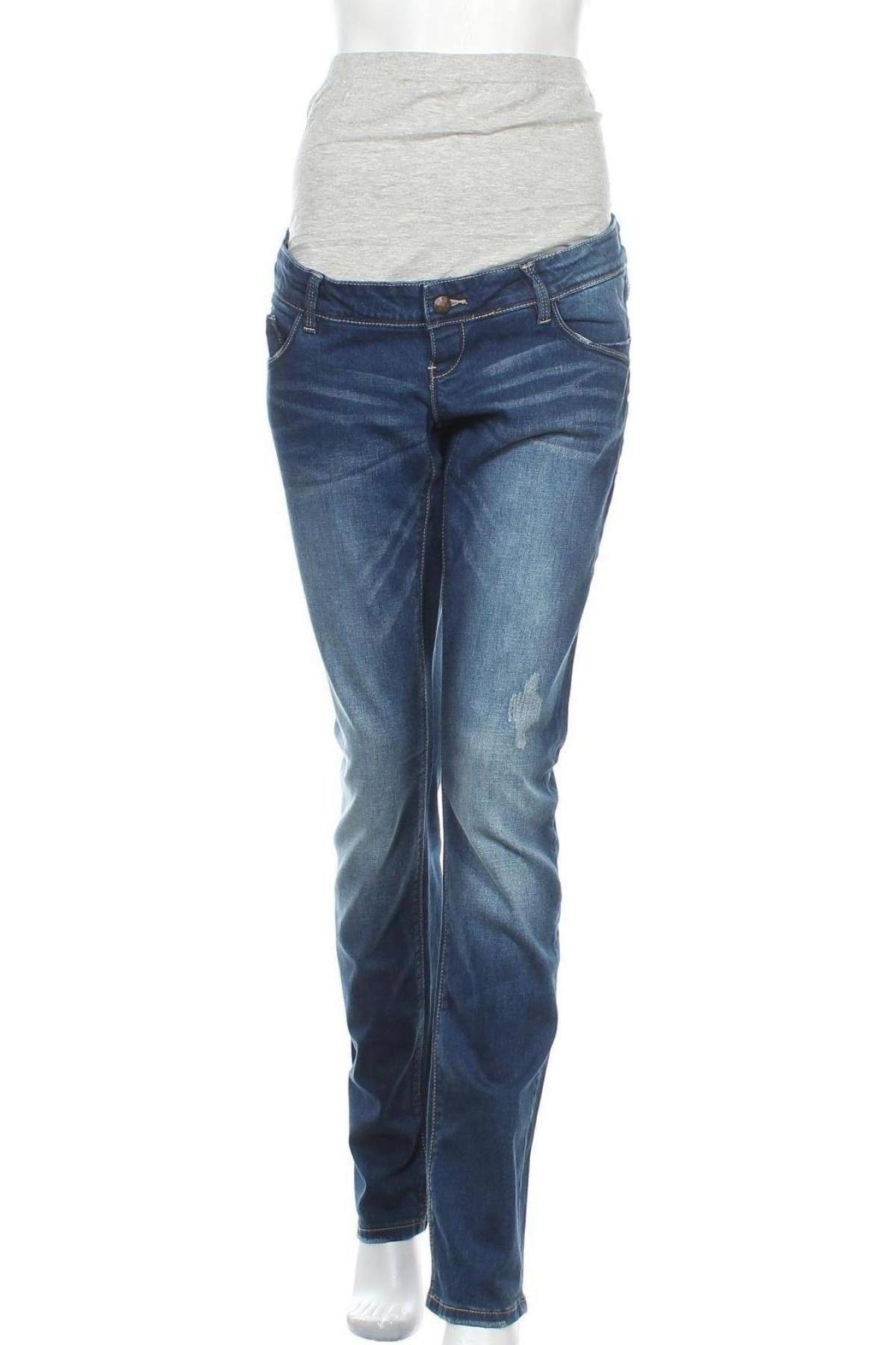 Дънки за бременни Mamalicious, Размер XL, Цвят Син, 99% памук, 1% еластан, Цена 66,75лв.