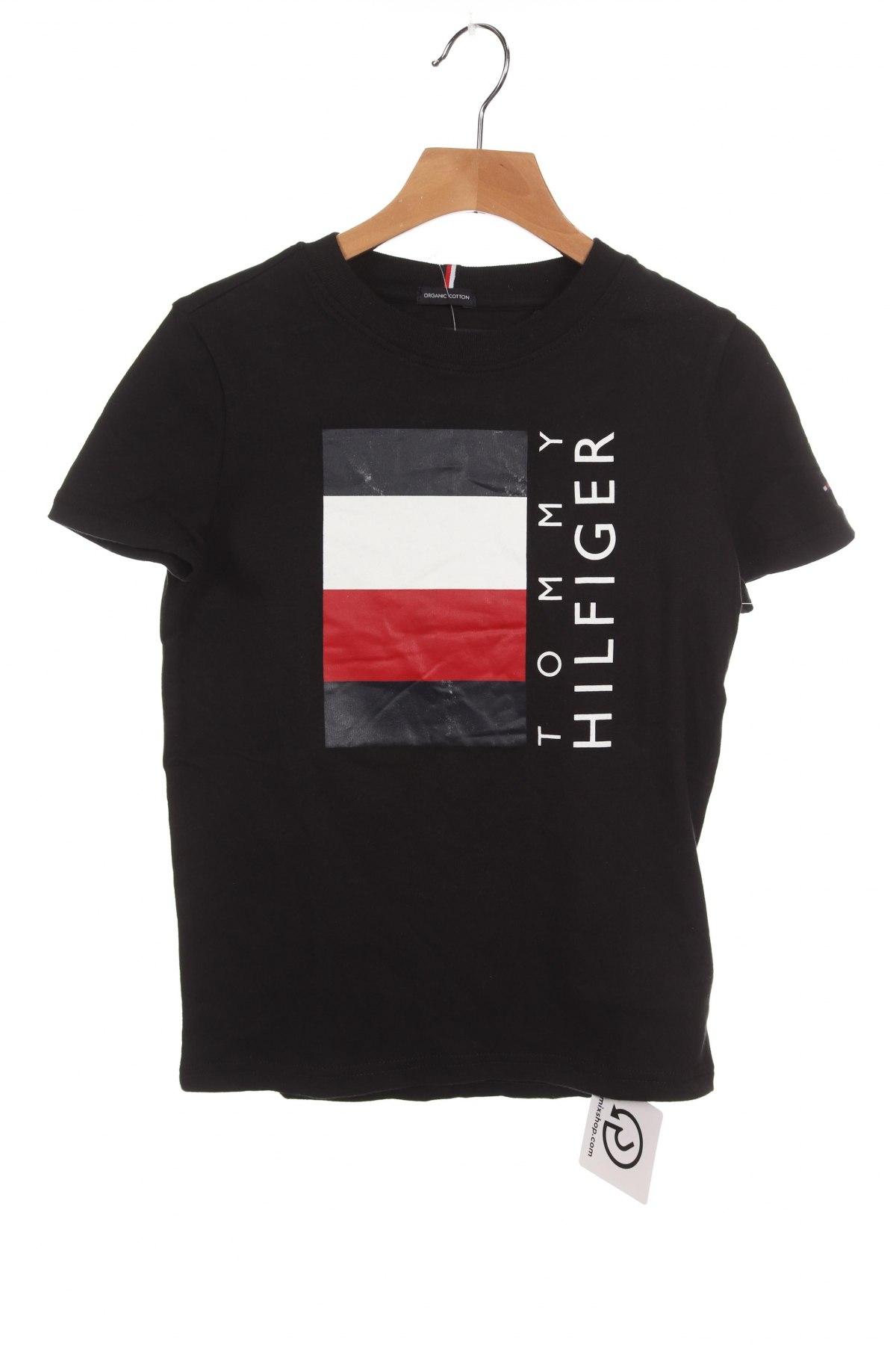 Παιδικό μπλουζάκι Tommy Hilfiger, Μέγεθος 7-8y/ 128-134 εκ., Χρώμα Μαύρο, Βαμβάκι, Τιμή 18,56€