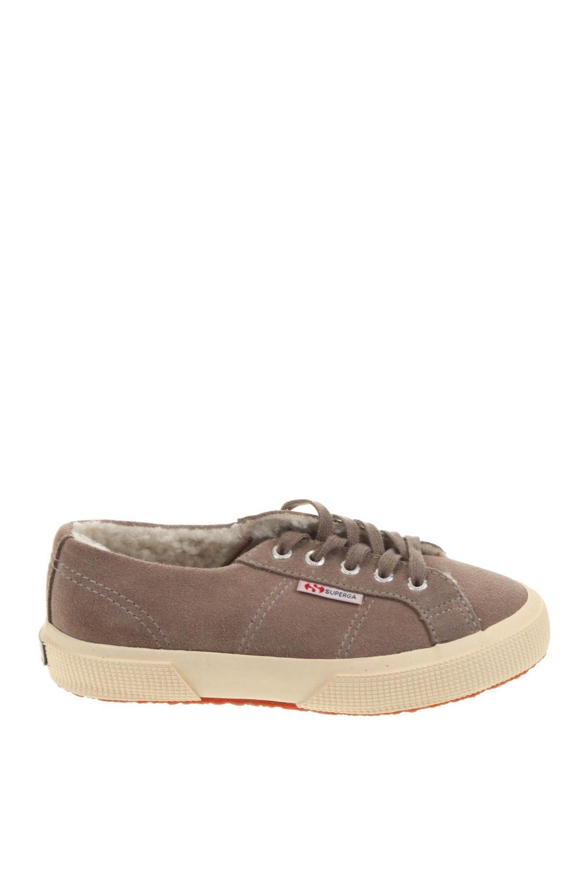 Детски обувки Superga, Размер 31, Цвят Сив, Естествен велур, Цена 66,75лв.