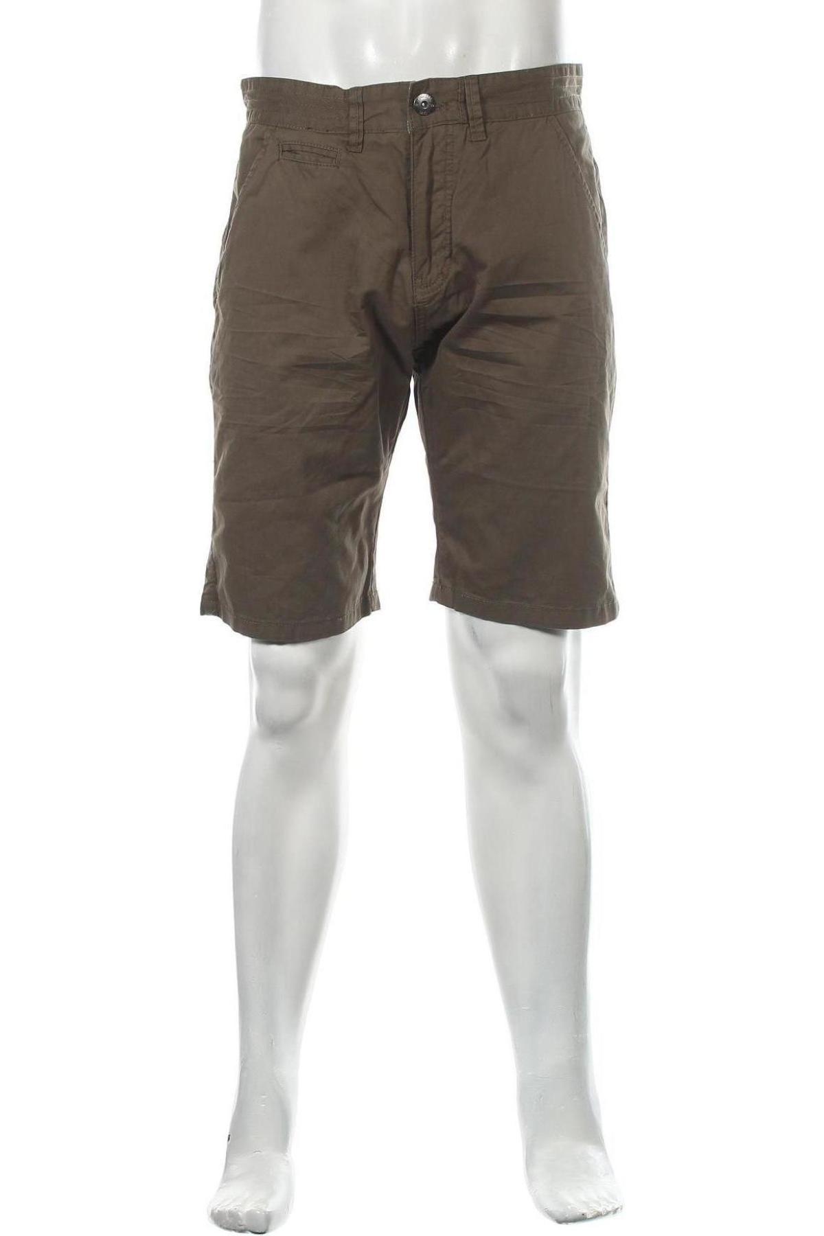 Мъжки къс панталон Indicode, Размер L, Цвят Зелен, Памук, Цена 40,50лв.