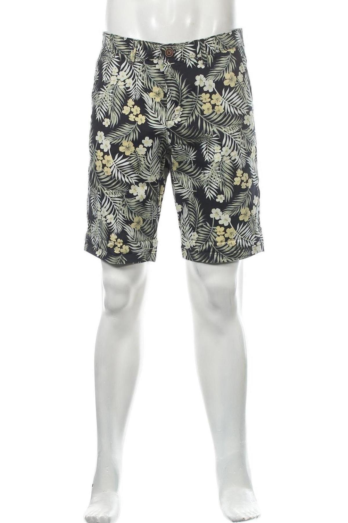 Мъжки къс панталон Jack & Jones, Размер S, Цвят Многоцветен, 98% памук, 2% еластан, Цена 16,52лв.