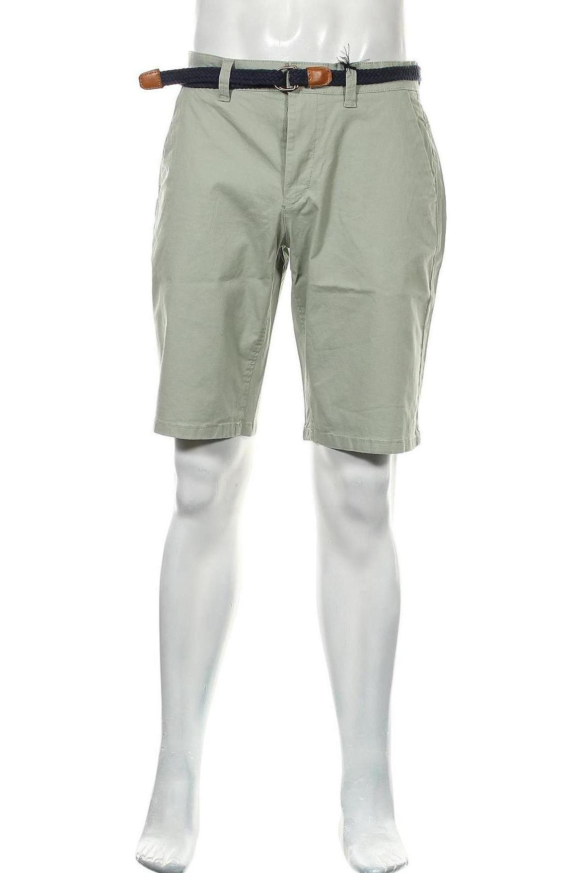 Мъжки къс панталон Only & Sons, Размер M, Цвят Зелен, 98% памук, 2% еластан, Цена 36,75лв.