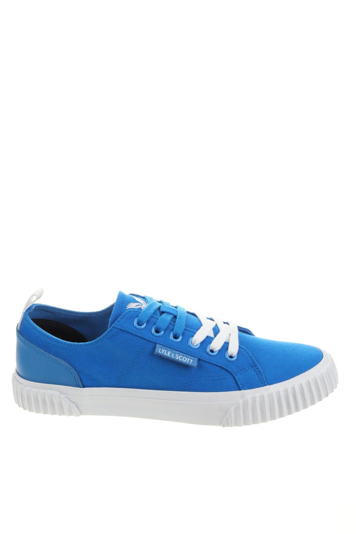 Ανδρικά παπούτσια Lyle & Scott, Μέγεθος 40, Χρώμα Μπλέ, Κλωστοϋφαντουργικά προϊόντα, γνήσιο δέρμα, Τιμή 21,50€