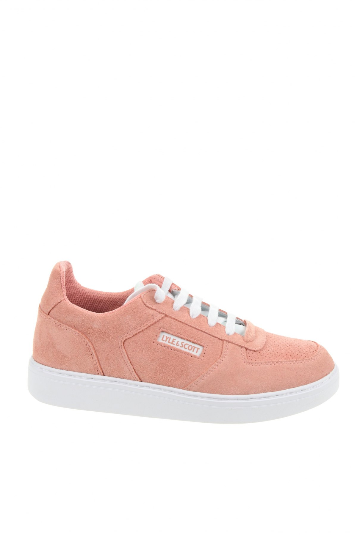 Мъжки обувки Lyle & Scott, Размер 43, Цвят Розов, Естествен велур, Цена 53,64лв.