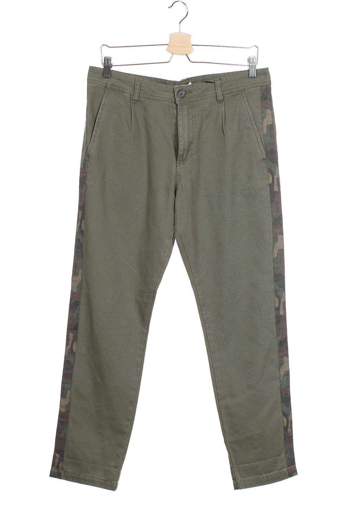 Мъжки панталон Your Turn, Размер M, Цвят Зелен, Памук, Цена 25,20лв.