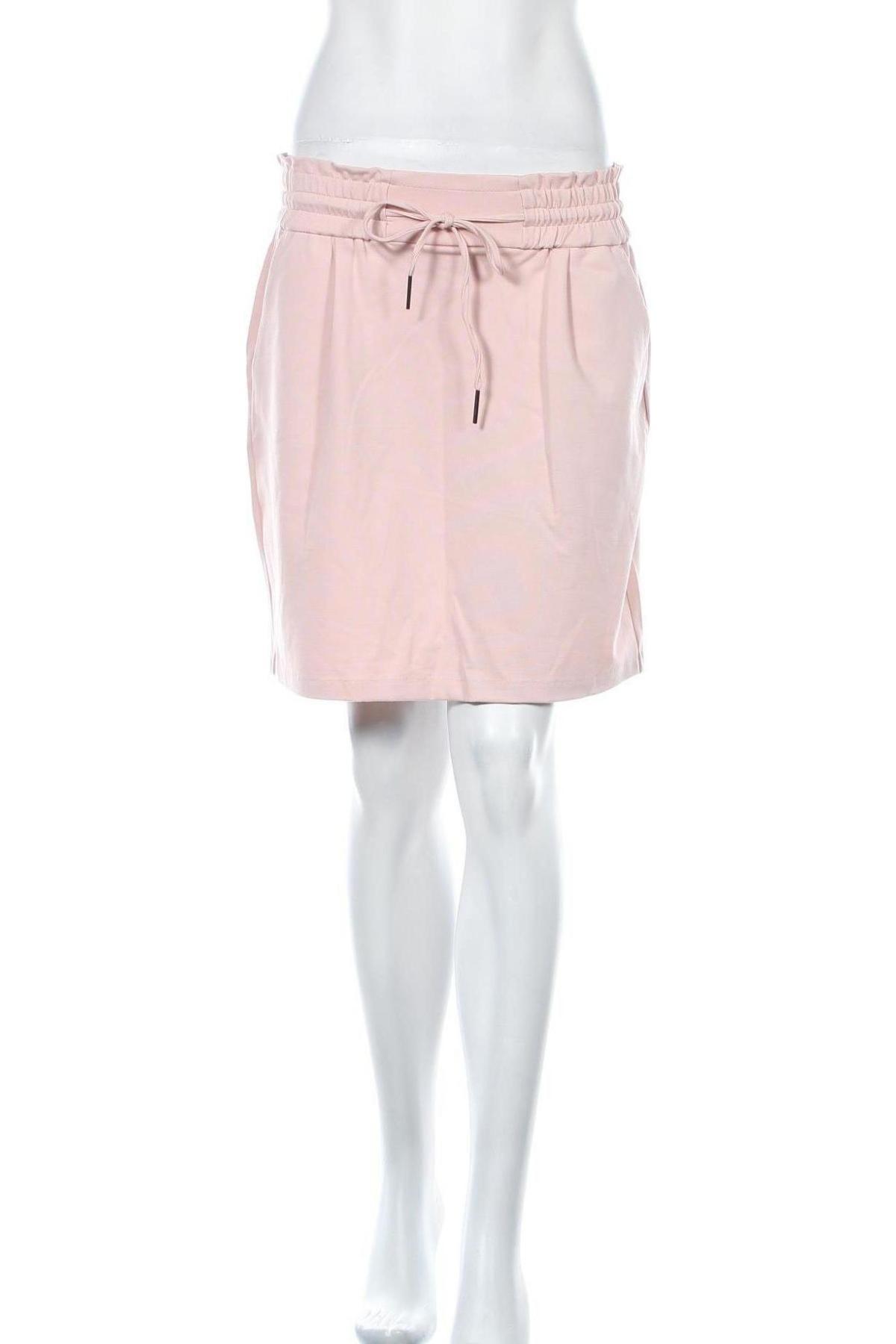 Пола Vero Moda, Размер M, Цвят Розов, 65% вискоза, 30% полиестер, 5% еластан, Цена 39,00лв.