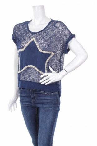 Дамска блуза Anel, Размер S, Цвят Син, 95% полиестер, 5% еластан, Цена 5,78лв.