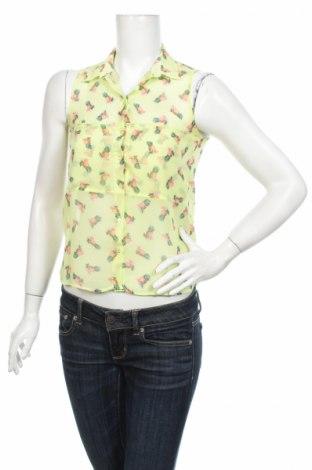 Γυναικείο πουκάμισο Bershka, Μέγεθος S, Χρώμα Κίτρινο, Πολυεστέρας, Τιμή 9,28€