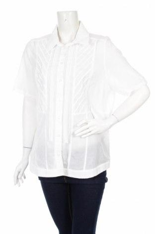Γυναικείο πουκάμισο Bonita, Μέγεθος XL, Χρώμα Λευκό, 57% βισκόζη, 43% βαμβάκι, Τιμή 11,86€