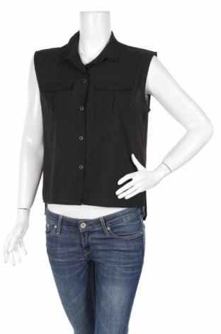 Дамска риза H&M, Размер S, Цвят Черен, Полиестер, Цена 5,40лв.