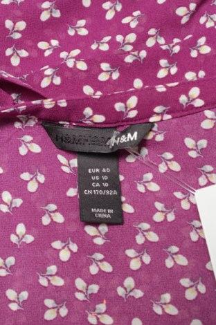Γυναικείο πουκάμισο H&M, Μέγεθος M, Χρώμα Βιολετί, 100% πολυεστέρας, Τιμή 16,08€