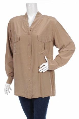 Γυναικείο πουκάμισο Mari Philippe, Μέγεθος M, Χρώμα  Μπέζ, 100% μετάξι, Τιμή 23,20€