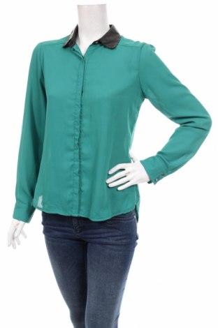 Γυναικείο πουκάμισο Pense A Toi, Μέγεθος S, Χρώμα Πράσινο, Πολυεστέρας, δερματίνη, Τιμή 17,53€
