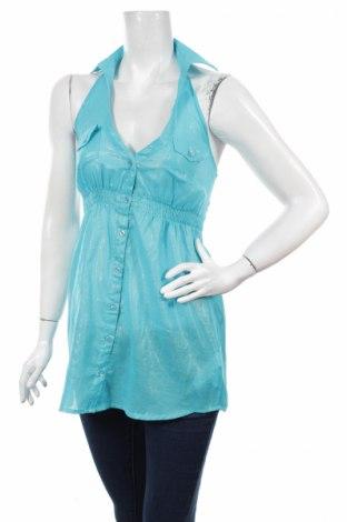 Γυναικείο πουκάμισο Tally Weijl, Μέγεθος XS, Χρώμα Μπλέ, Βαμβάκι, Τιμή 15,47€