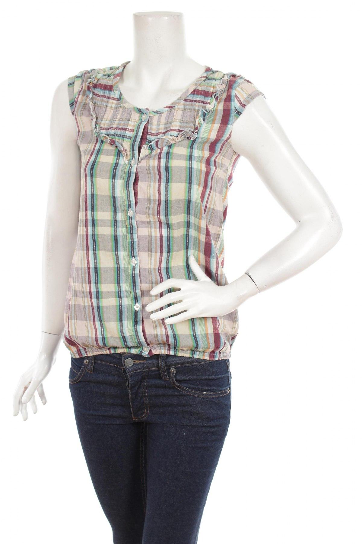 Γυναικείο πουκάμισο Okay, Μέγεθος S, Χρώμα Πολύχρωμο, 99% βαμβάκι, 1% ελαστάνη, Τιμή 9,90€