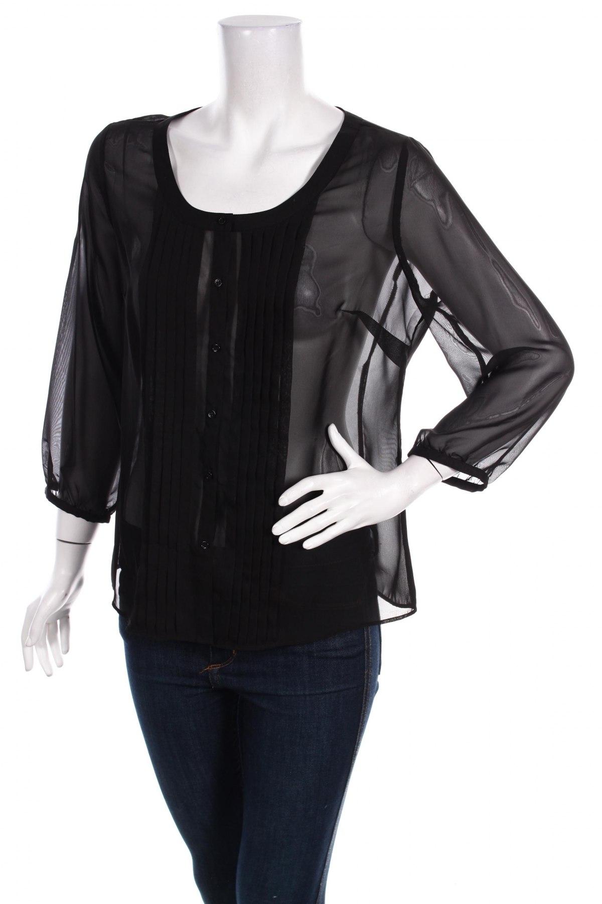 Γυναικείο πουκάμισο, Μέγεθος M, Χρώμα Μαύρο, Τιμή 16,70€