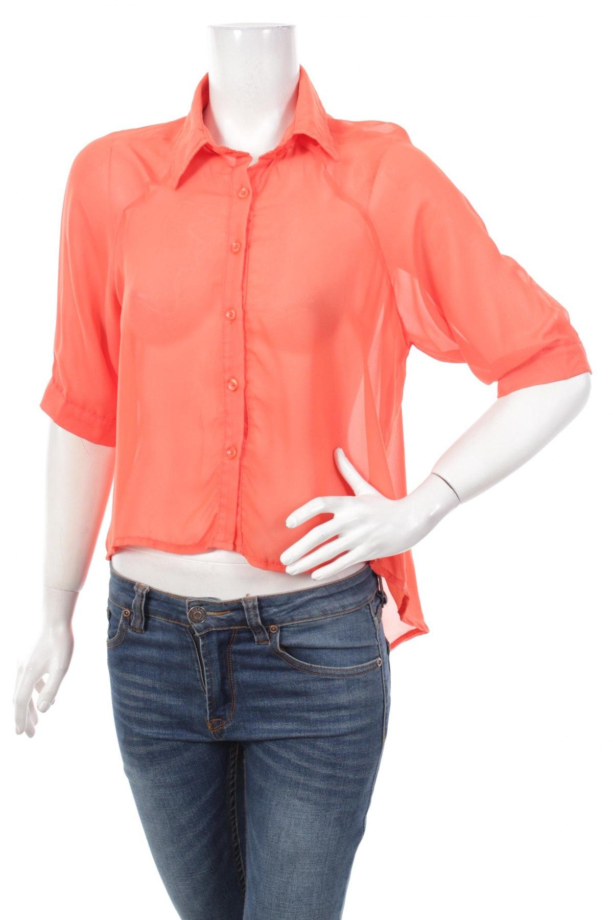 Γυναικείο πουκάμισο, Μέγεθος M, Χρώμα Πορτοκαλί, Τιμή 12,99€
