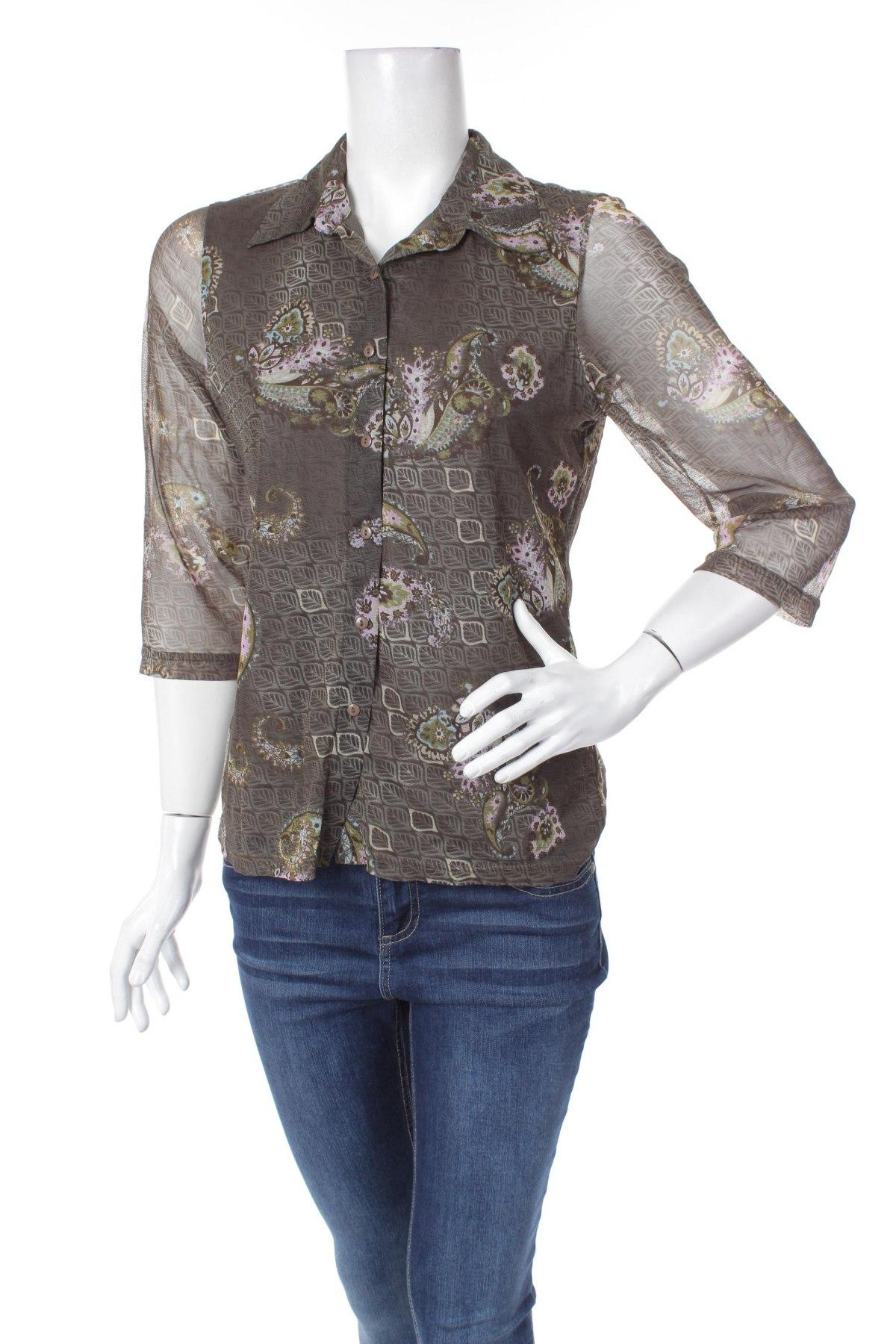 Γυναικείο πουκάμισο Biaggini, Μέγεθος L, Χρώμα Πολύχρωμο, Τιμή 18,56€