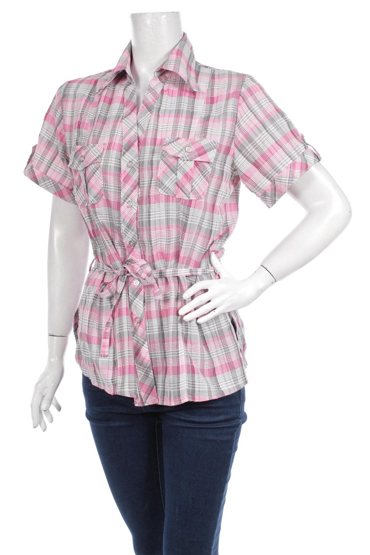 Γυναικείο πουκάμισο Ccg Perfect, Μέγεθος L, Χρώμα Γκρί, Τιμή 10,82€