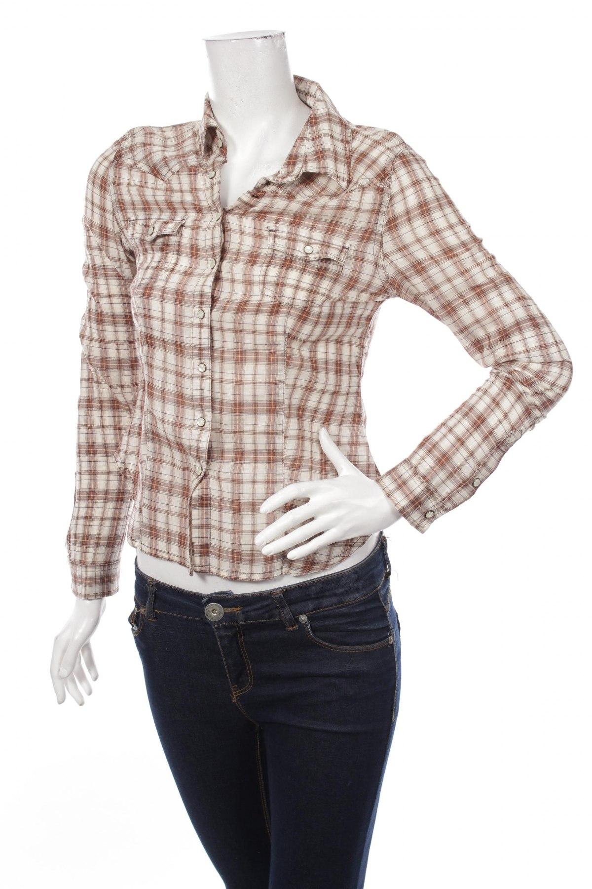 Γυναικείο πουκάμισο H&M, Μέγεθος XS, Χρώμα  Μπέζ, Βαμβάκι, Τιμή 14,95€