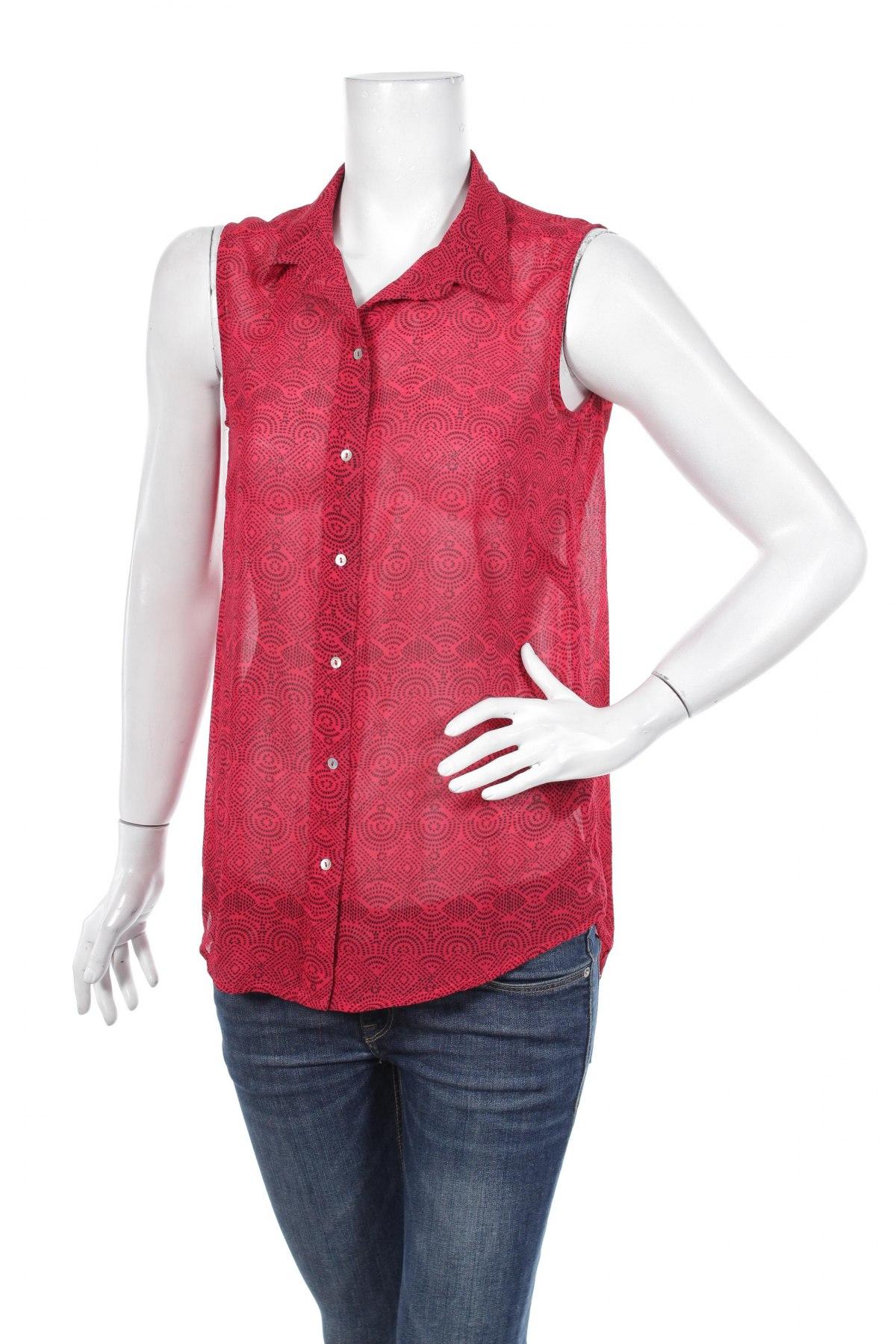 Γυναικείο πουκάμισο H&M, Μέγεθος S, Χρώμα Κόκκινο, 100% πολυεστέρας, Τιμή 11,13€