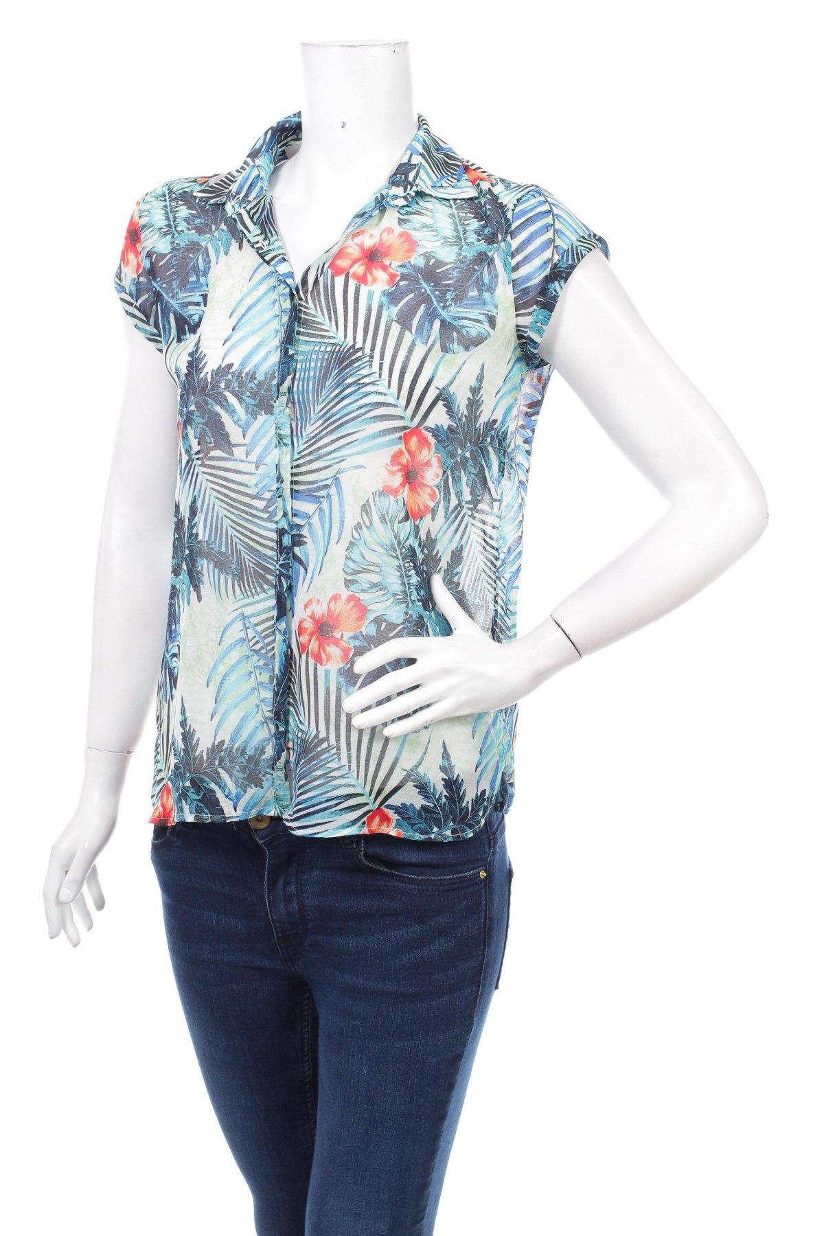Γυναικείο πουκάμισο Mango, Μέγεθος M, Χρώμα Πολύχρωμο, 100% πολυεστέρας, Τιμή 13,40€