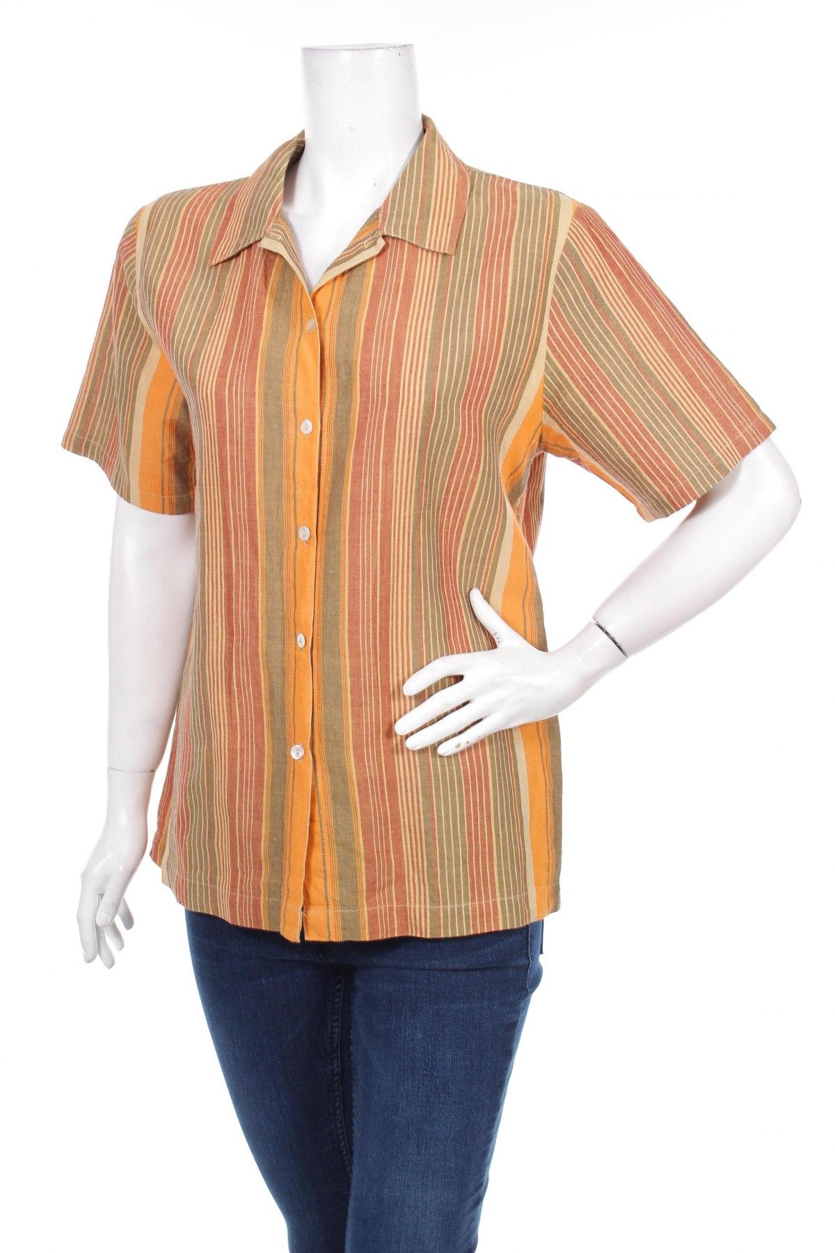 Γυναικείο πουκάμισο Sergio, Μέγεθος M, Χρώμα Πολύχρωμο, Λινό, Τιμή 11,34€