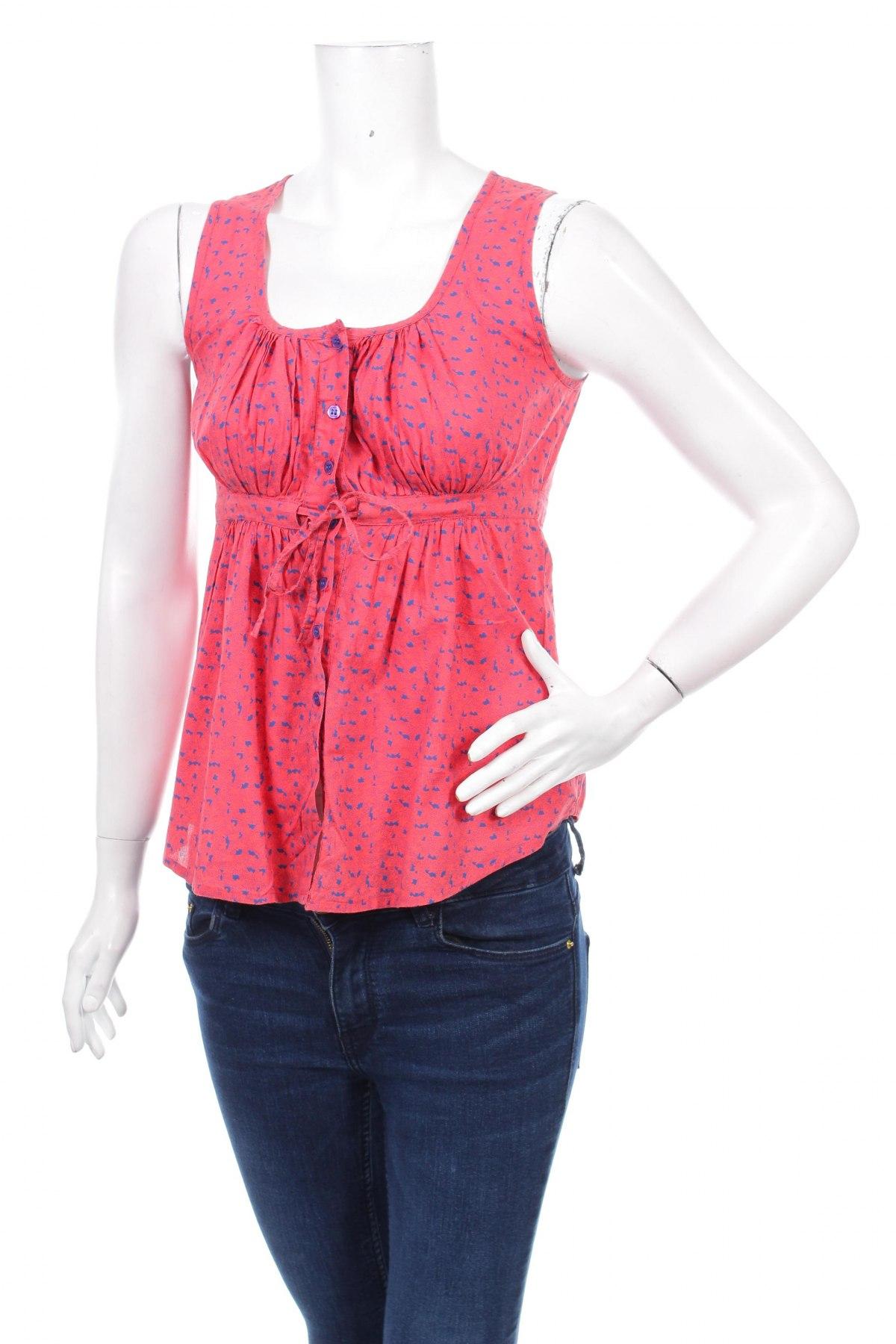 Γυναικείο πουκάμισο Vero Moda, Μέγεθος S, Χρώμα Κόκκινο, 100% βαμβάκι, Τιμή 11,34€