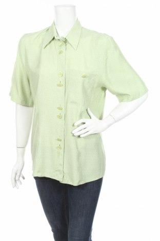 Γυναικείο πουκάμισο Divina, Μέγεθος L, Χρώμα Πράσινο, Βισκόζη, Τιμή 5,70€