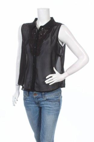 Дамска риза Factorie, Размер L, Цвят Черен, 100% полиестер, Цена 4,00лв.
