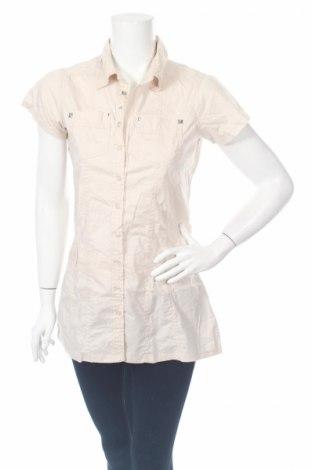 Дамска риза Okay, Размер S, Цвят Бежов, 97% памук, 3% еластан, Цена 17,10лв.