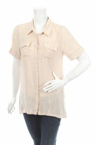 Γυναικείο πουκάμισο Soulmate, Μέγεθος S, Χρώμα  Μπέζ, 80% βισκόζη, 20% πολυαμίδη, Τιμή 3,74€