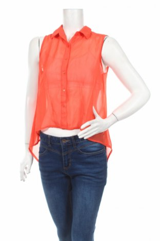 Дамска риза Truth, Размер S, Цвят Оранжев, Полиестер, Цена 4,50лв.