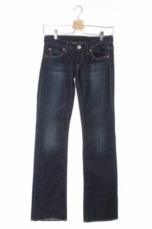 Дамски дънки Herrlicher, Размер XS, Цвят Син, 98% памук, 2% еластан, Цена 21,30лв.