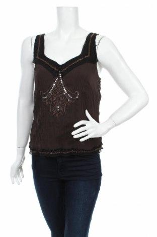 Γυναικείο αμάνικο μπλουζάκι G.W., Μέγεθος S, Χρώμα Καφέ, Τιμή 7,50€